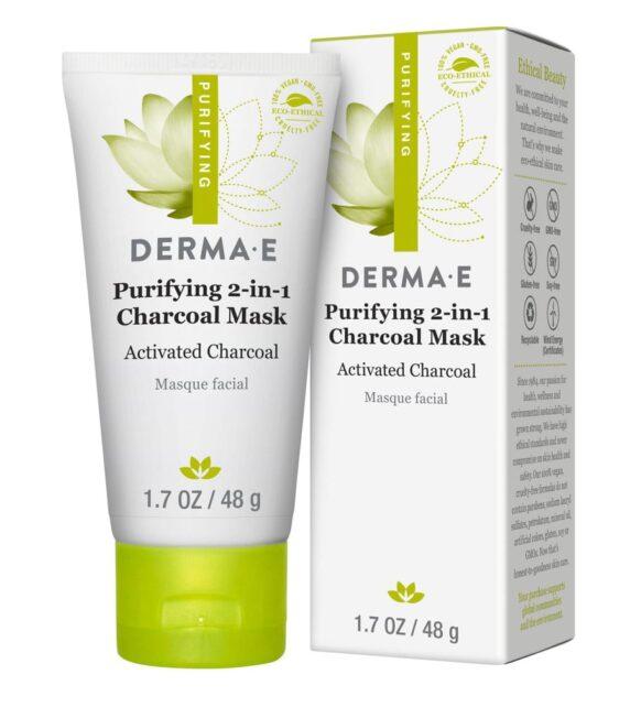 قناع الفحم المنقي للبشرة Derma e Purifying 2-in-1 Charcoal Mask