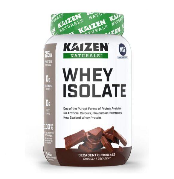 بروتين معزول مصل الحليب نكهة الشوكولاتة Kaizen Whey Isolate 840g