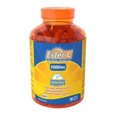 ايستر سي فيتامين ج لطيف على المعدة Ester-C 1000 mg, 180 Tablets
